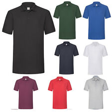 FRUIT OF THE LOOM MENS HEAVY POLYCOTTON PIQUE POLO SHIRT SS27