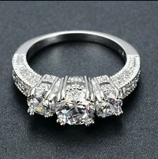 diamond silver colour stone stud korean ring