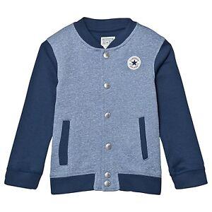 Designer CONVERSE 'All Star' Varsity Jacket Grey Marl /Navy WAS £48 NOW £25 SALE