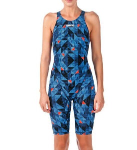 Arena Women's UK26 Powerskin ST Blue Short-leg FINA Race Competition Suit
