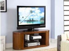 Jual JF207 - Media Unit, TV Stand / Cabinet - Curved - Walnut, Piano Black Glass