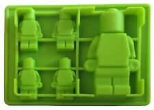 Lego Toy Bricks and 2 Figures Silicone Ice Cube Mold Trays Molds