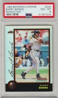 1998 Bowman Chrome Barry Bonds Refractor #225 PSA 8 *Pop 1* Giants