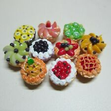 10 Tart Pie Summer Fruit Top Dollhouse Miniatures Food Deco