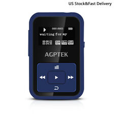 Agptek Bluetooth Mp3 Player 8Gb with Clip Fm&Recorder Slot up to 128Gb for Sport