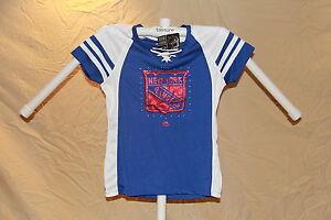 New York Rangers MAGIC MOMENT Fan Fashion JERSEY/Shirt MAJESTIC Womens Large NWT