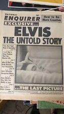 "Elvis Presley Sept.6, 1977 National Enquirer Newspaper ""The Untold Story"".the"