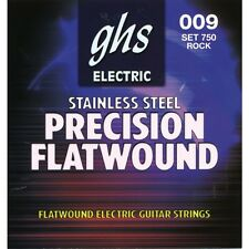 GHS Precision Flatwound Electric Guitar Strings stainless steel set 750 9-42
