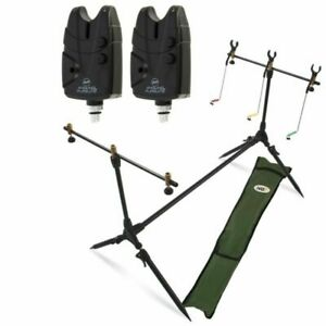 Carp Fishing Pod & Alarms With Swingers 2 Bite Alarms 3 Rod Rests & Bag NGT