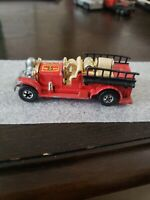"""Hot Wheels 1980 """"Old Number 5"""" Firetruck - Red"""