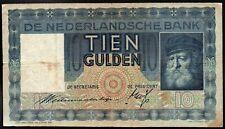 PAYS BAS ; 10 Gulden ; 10 Novembre 1933  ;Pick#52 ./L229