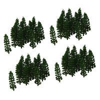 80 Stück 1: 100 Plastikmodell Tannen Bäume Layout Architektur Gebäude Diorama