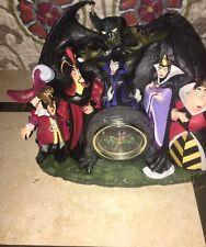 Walt Disney Villains Clock Chernabog Hook Maleficent Jafar Evil Queen