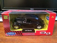 Welly 1/38 Scale VW Beetle - Black - Sealed In Box - Pull-Back Action