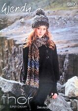 Wendy Thor Super Chunky Knitting Pattern for Scarf and Neck Warmer - 5680