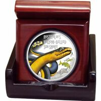 Deadly and Dangerous Yellow-Bellied Sea Snake 2013 - 1 Oz Proof Silver Coin