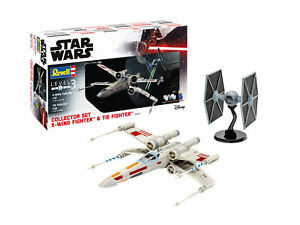Miniature Star Wars Collector Set X-Wing Tie Fighter Model Kit