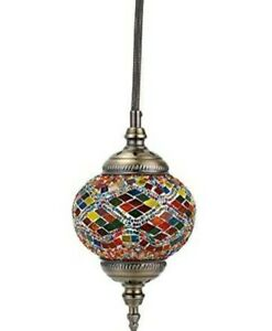 Moroccan Turkish Ceiling Lamp Handmade Glass Pendant Light