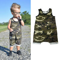 0-3Year Camouflage Baby Boy Kids Newborn Romper Jumpsuit Bodysuit Clothes Outfit