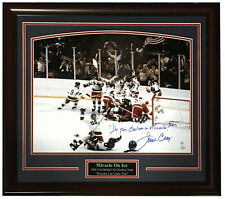 Jim Craig 1980 signed Do you Believe in Miracles 16x20 photo auto Steiner COA