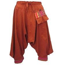 GENIE/HAREM/BAGGY/SAMURAI DROP CROTCH CAPRIS COTTON PANTS w 1-POCKET  F0972