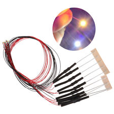 10Pcs 20cm t0603wm pre-soldered micro 0.1mm copper wired white smd led 0603