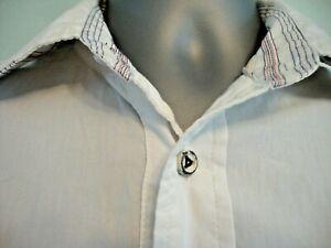 mens DIESEL long sleeve white shirt size medium