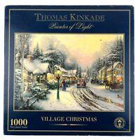Village Christmas Jigsaw Puzzle 1000 Gibsons Thomas Kinkade Painter of Light Car