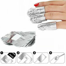 Aluminum Foil Nail Art For Soak Off Acrylic Gel Polish Nail Wraps Remover Access