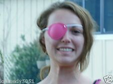 The World's Best Eye Patch  ADULT RASPBERRY LASTS FOR YEARS replaceable elastic