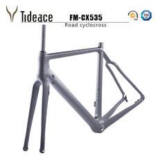 FM-CX535 Thru Axle Cyclocross Road Racing Bicycle Frames OEM BSA 58cm Black Matt