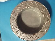 Wiilton Armetale US Round Wine Coaster metal Diamonds Southwest American dish US