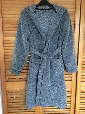 Boys Grey Marl Fleece Dressing Gown with Hood. Age 12- 13 years