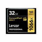 32GB Lexar Professional 1066X 160MB/s UDMA7 VPG-65 Compact Flash CF Memory Card