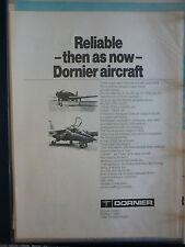 5/1976 PUB DORNIER ALPHA-JET DO 335 LUFTWAFFE FLUGZEUG ORIGINAL AIRCRAFT AD