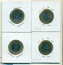 From Show Inv. - 2 BI-METAL 5 PESO COINS..the DOMINICAN REPUBLIC..2002 & 2007