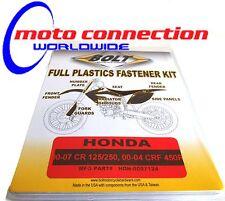 Plásticos/Carrocería especial OEm Tipo Pernos Kit Para Honda CR125/250 00-07