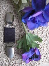 Lagenlook Cuir Robe Brace/écharpe Clip ~ Deep Plum Pearl/70 couleurs + magnolia ~ BN