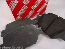 TOYOTA COROLLA FRONT BRAKE PADS ZZE122 SEDAN HATCH WAGON 2000-2007 NEW GENUINE