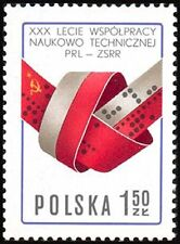 Poland 1977 Sc2207Mi2495 0.20 MiEu 1v mnh Cooperation between Poland and USSR