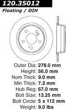 StopTech Sport Drilled Disc fits 1987-2007 Mercedes-Benz SLK230 300TE C240  STOP