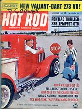 Hot Rod Magazine December 1963 Denver Dandy Valiant-Dart 273 V8 VGEX 122415jhe