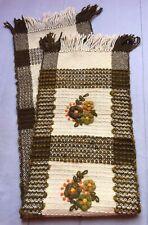 Vintage, hand made 100% wool brown kilim, table runner, wall hanging