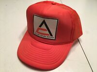 Vintage 80s Allis Chalmers Hat Snap Back Orange Trucker Hat