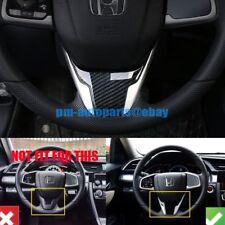 Brand New Carbon Fiber Steering Wheel Molding Cover Trim For Honda Civic 16-17