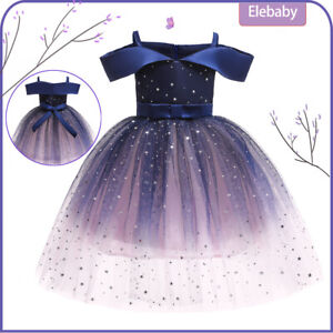 Flower Girls Bridesmaid Dress Baby Kids Party Lace Bow Wedding Dresses Princess