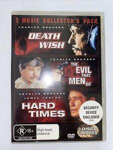 Death Wish - The Evil That Men Do - Hard Times - BRONSON - DVD - Region 4