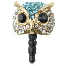 Bling Night Owl Cellphone Charms Universal 3.5mm Dust Plug For iPhone H1J9