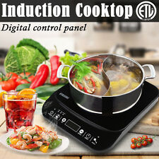 New 1800Watt Portable Induction Cooktop Single Burner Electric Cooker Countertop