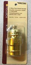 Portfolio Three-Way Brass Lamp Socket